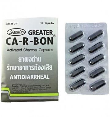 Тайский активированный уголь Ca-R-bon 10 капсул
