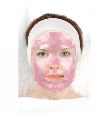 Розовая коллагеновая маска с красным вином