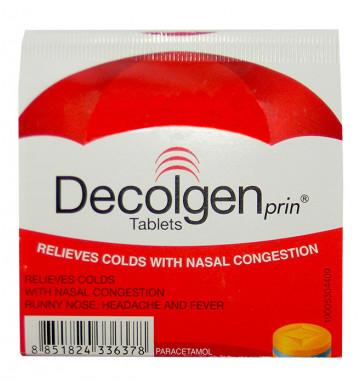 Лекарство против простуды Decolgen 4 таб