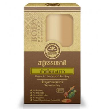 Органическое медовое мыло с лаймом 80 гр