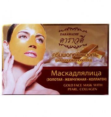 Антивозрастная золотая маска с жемчугом