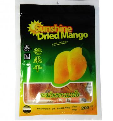 Сушеное манго 190 гр 10% сахара