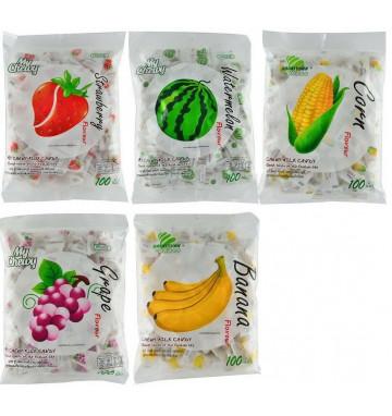 Молочные конфеты 360 гр 5 вкусов