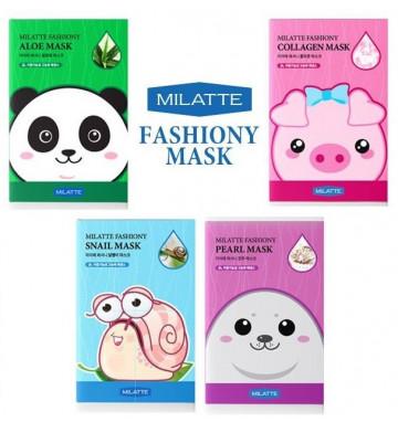 Тканевая маска от Milatte 10 шт 4 вида