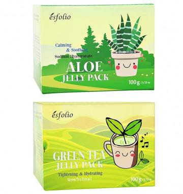 Ночная маска желе Esfolio с алое или чаем