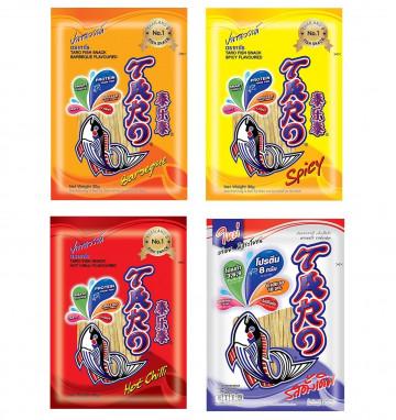 Тайская рыбная закуска Taro 30 гр 4 вкуса