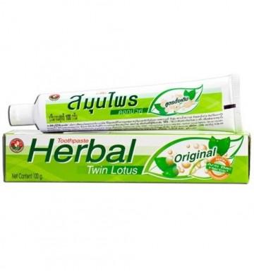 Травяная зубная паста Twin Lotus 180 гр